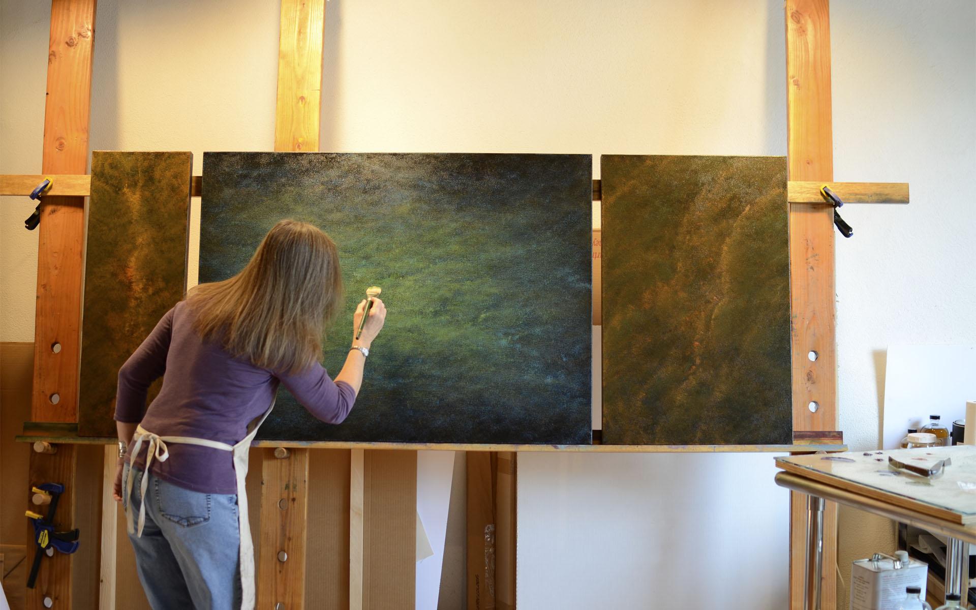 Patinas of Memory, VIII in studio